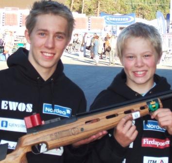 Samlagsmestera i klasse Junior Lars Haugnes og Eldre rekrutt Mats Haugnes