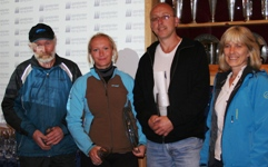 F.v. Per Trygve Berge, Hildegunn Sortland, Terje Bolstad, Reidun Høydal Sparebanken S&F