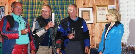 F.v. Toralf Årdal, Erling Haugland, Ludvig Indrebø, Reidun Høydal Sparebanken Sogn og Fjordane
