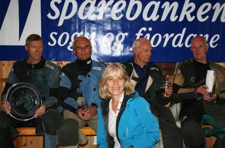 f.v. Oddvar Rossberg, Ola Loneland, Arvid Skjerven, Bjarne Sandvik