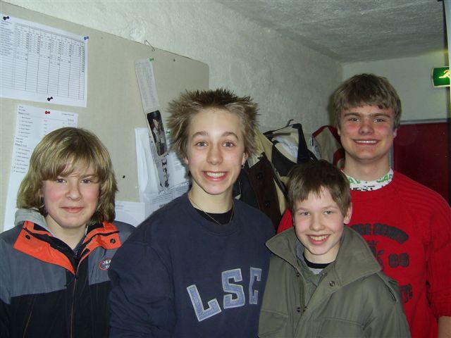 Unge, fornøyde skyttere