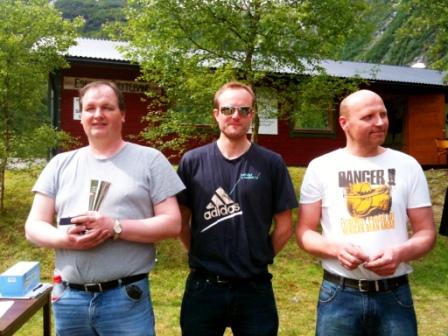 Fra venstre Svein Kåre Furre, Erling Melvær, Ole Arild Aa